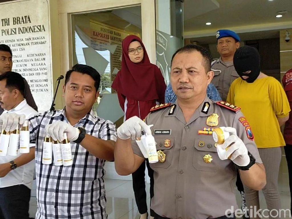 Peredaran Kosmetik Ilegal di Banyuwangi Digagalkan, 2 Pengedar Diamankan
