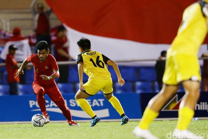 Timnas Indonesia U-22 berpesta gol ke gawang Brunei Darussalam di lanjutan SEA Games 2019. Garuda Muda menang 8-0, Osvaldo Haay bikin hat-trick.