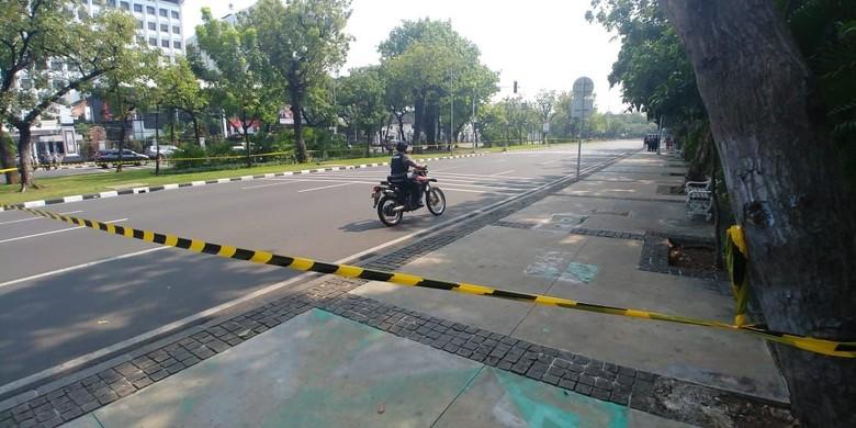Ledakan di Monas, Jalan Medan Merdeka Utara Arah Istana Ditutup