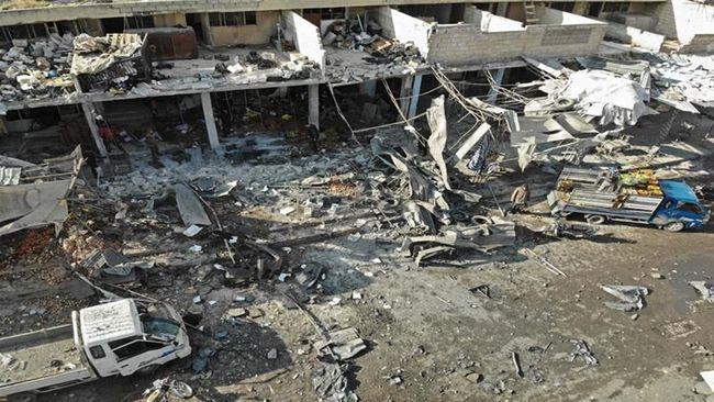 Serangan Udara Hantam Pasar di Suriah, 10 Warga Sipil Tewas