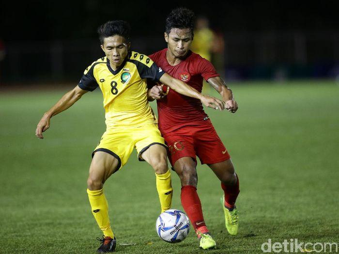 Osvaldo Haay mencetak hat-trick saat Timnas Indonesia U-22 mencukur Brunei Darussalam 8-0. (Foto: Grandyos Zafna/detikcom)