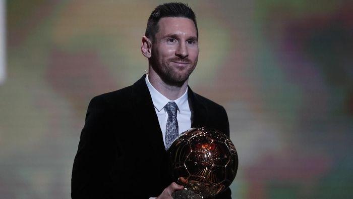 Messi disebut pantas meraih Ballon dOr sepuluh kali lebih banyak dari Ronaldo (AP Photo/Francois Mori)