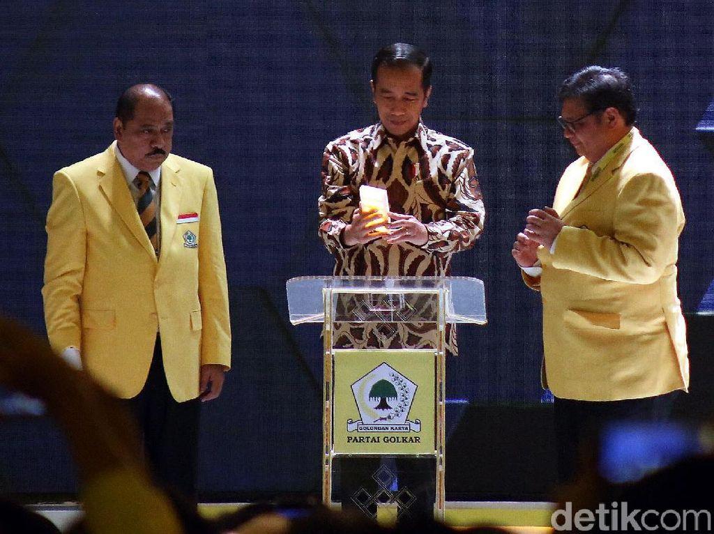Jokowi Hadiri Munas Partai Golkar