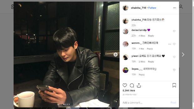 Unggahan terakhir Cha In Ha di Instagram