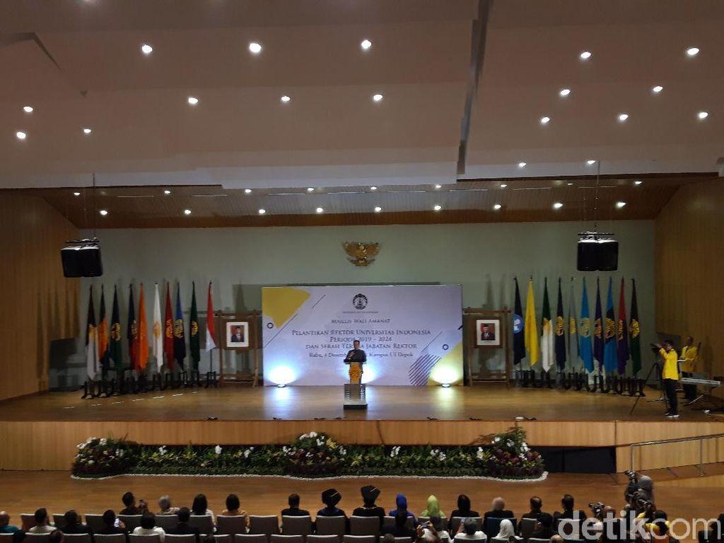 Di Pelantikan Rektor UI, Nadiem Bicara Kemerdekaan Belajar-Dosen Penggerak