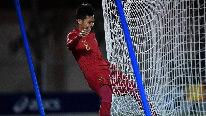 Witan Sulaeman akhirnya main juga di SEA Games 2019 dan bikin gol (ANTARA FOTO/Sigid Kurniawan)