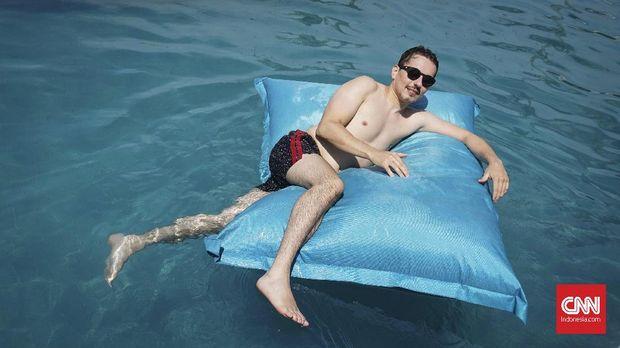 Jorge Lorenzo di Bali. (CNNIndonesia/Ardita Mustafa)