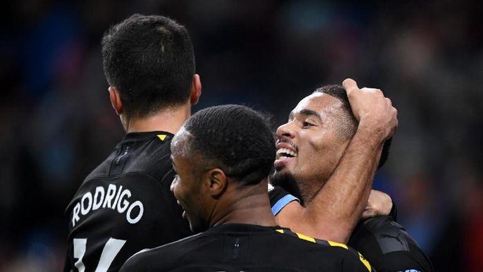Gelandang Man City Rodri memperingatkan Liverpool bahwa timnya tidak akan menyerah untuk bersaing. (Foto: Stu Forster / Getty Images)