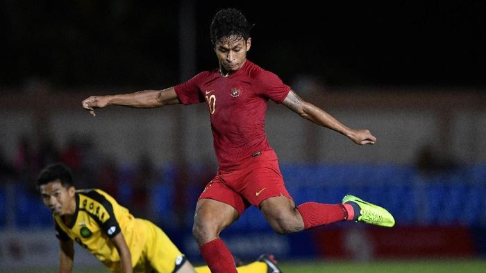 Striker Indonesia Osvaldo Haay memimpin daftar top skorer dengan lima gol (ANTARA FOTO/Sigid Kurniawan)