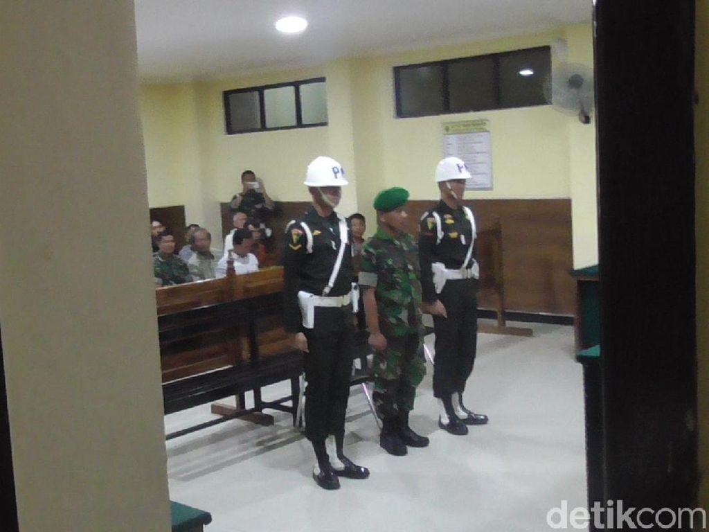 Serda N, Pembunuh Wanita Dalam Karung di Sulbar Dituntut 12 Tahun Penjara