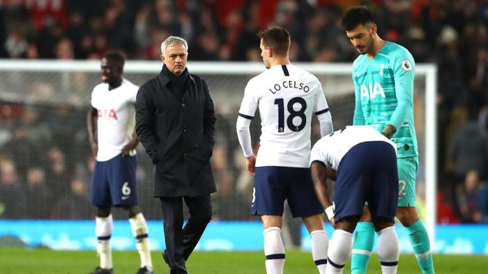 Jose Mourinho menilai Tottenham Hotspur terlalu meremehkan Manchester United (Foto: Michael Steele/Getty Images)