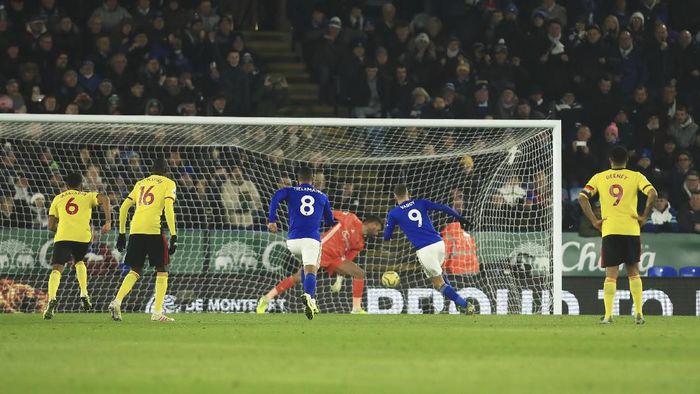 Leicester City kalahkan Watford 2-0 dan naik ke posisi kedua klasemen Premier League (AP Photo/Leila Coker)