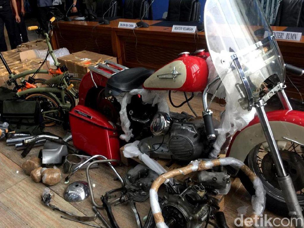 Ini Penampakan Harley dan Brompton yang Diangkut Garuda