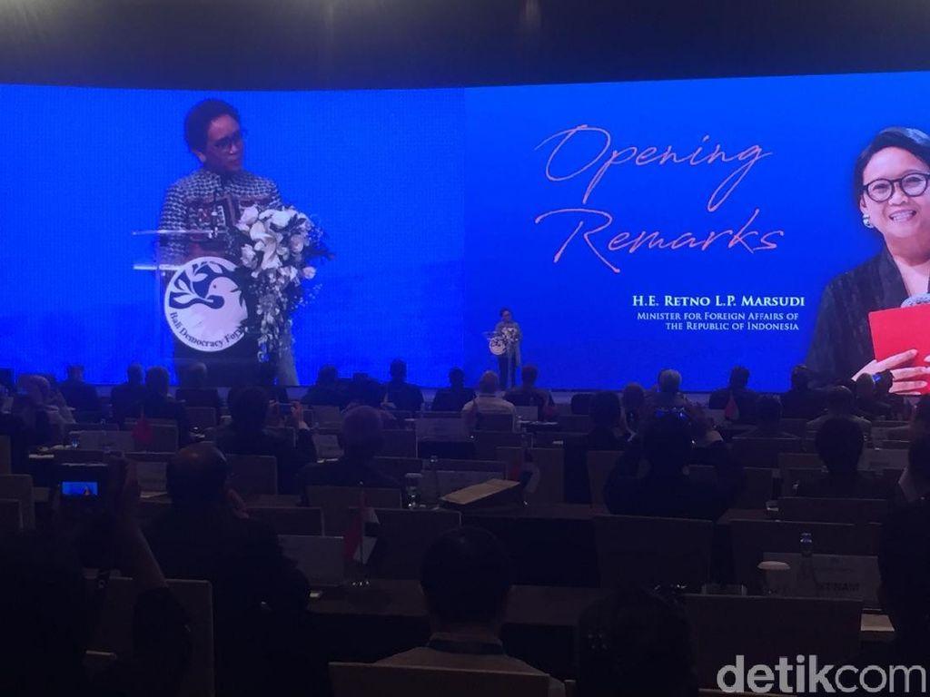 Buka BDF 2019, Menlu Bicara Pentingnya Demokrasi Untuk Jaga Perdamaian