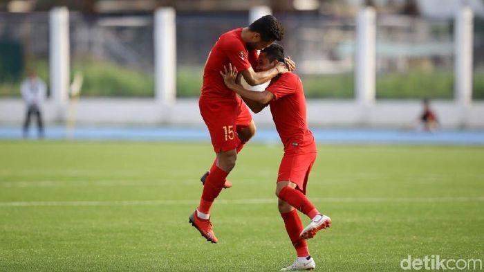 Timnas Indonesia U-22 ingin mencetak sejarah di SEA Games 2019. (Foto: Grandyos Zafna/detikcom)
