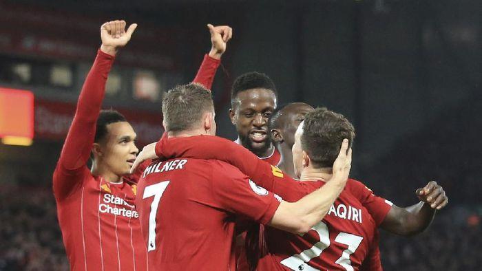 Liverpool menang 5-2 atas Everton di Laga Derby Merseyside (AP Photo/Jon Super)
