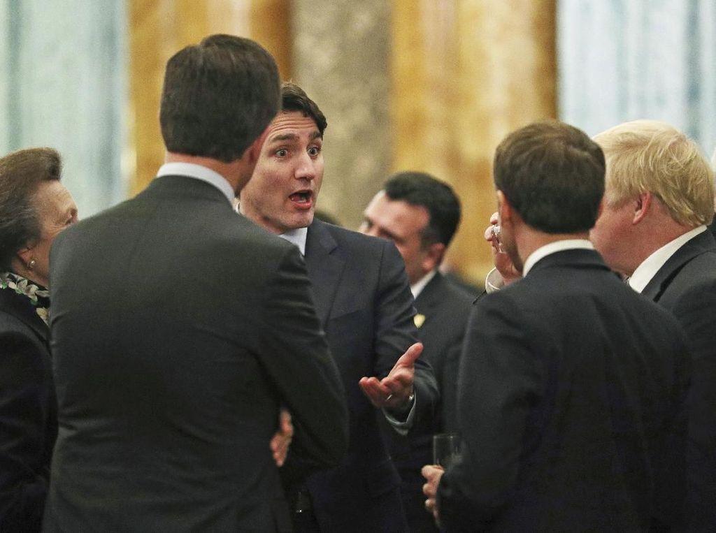 Ups, PM Trudeau dkk Terekam Kamera Bergosip Soal Trump di Istana Buckingham