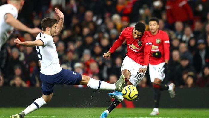 Manchester United menang 2-1 atas Tottenham Hotspur dalam lanjutan Liga Inggris berkat dua gol Marcus Rashford (Foto: Michael Steele/Getty Images)