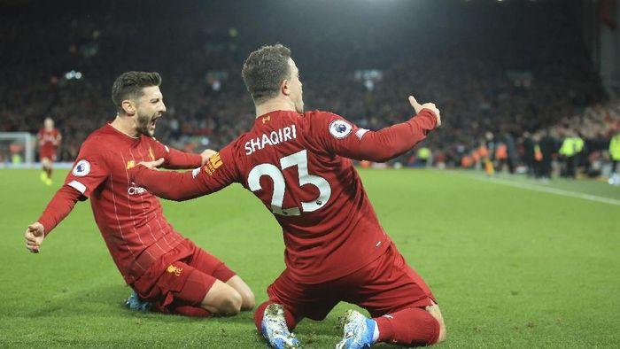Dua pemain pelapis Liverpool, Shaqiri dan Lallanan, tampil oke saat menhadapi Liverpool (AP Photo/Jon Supe)