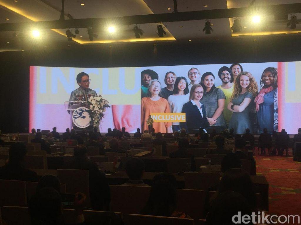 Di Bali Democracy Forum, Menlu Banggakan Parlemen RI Dipimpin Perempuan