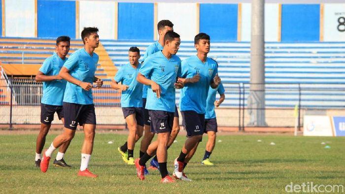 Persela Lamongan fokus perlaga di 4 pertandingan sisa Liga 1 2019. (Foto: Eko Sudjarwo/detikcom)