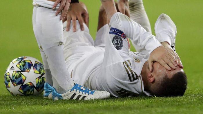 Eden Hazard akan absen memperkuat Real Madrid melawan Barcelona pada 18 Desember 2019. (Foto: Bernat Armangue / AP Photo)