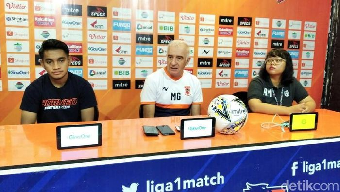 Roberto Carlos Mario Gomez menegaskan misi Borneo FC membidik posisi kedua klasemen akhir Liga 1 2019. (Foto: Suriyatman/detikcom)