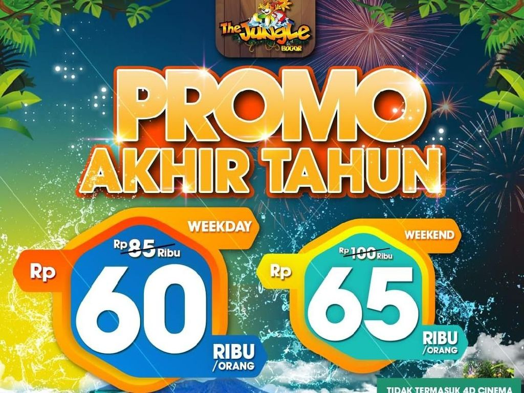 Desember, The Jungle Waterpark Tebar Promo Tiket