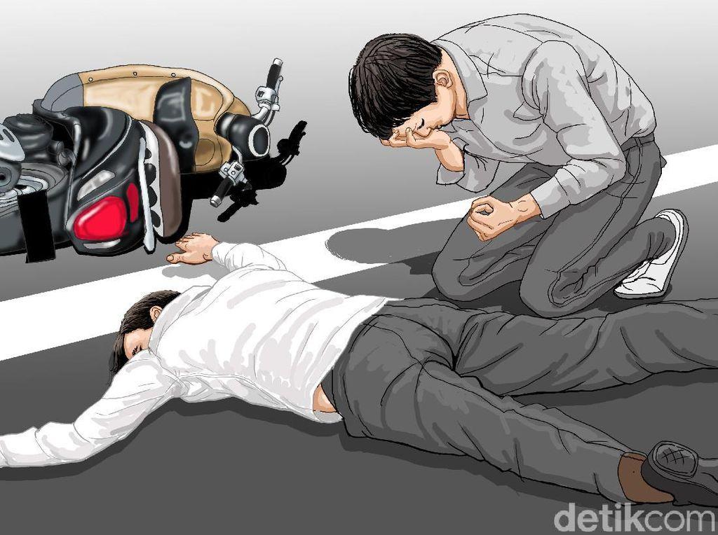 Kecelakaan di Pasar Induk Cibitung, Seorang Pemotor Tewas Terlindas Truk