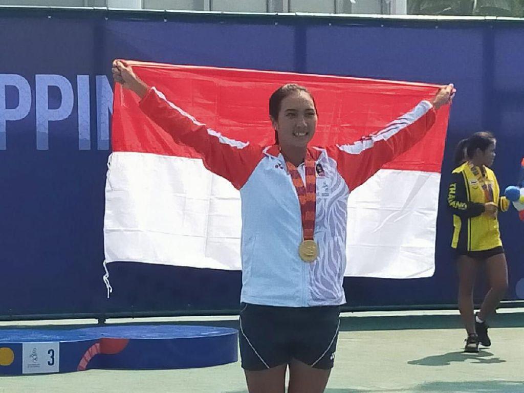 Aldila Sutjiadi Segel Emas SEA Games dari Tenis