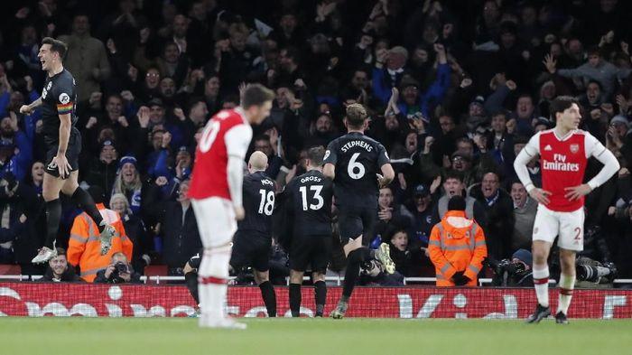 Arsenal dikalahkan Brighton & Hove Albion di lanjutan Liga Inggris (Foto: AP Photo/Frank Augstein)