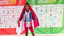 Agus Raih Emas Pertama Maraton Usai Menantang Beton dan Cuaca