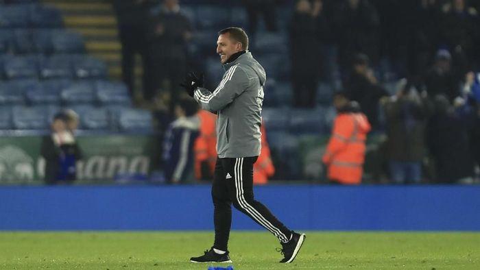 Brendan Rodgers perpanjang kontrak dengan Leicester hingga 2025 (AP Photo/Leila Coker)