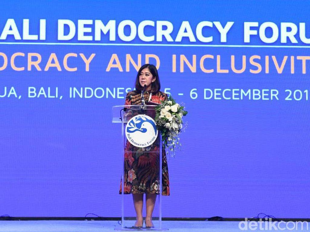 Tutup Bali Democracy Forum, Meutya Hafid Bicara Perempuan Jaga Demokrasi