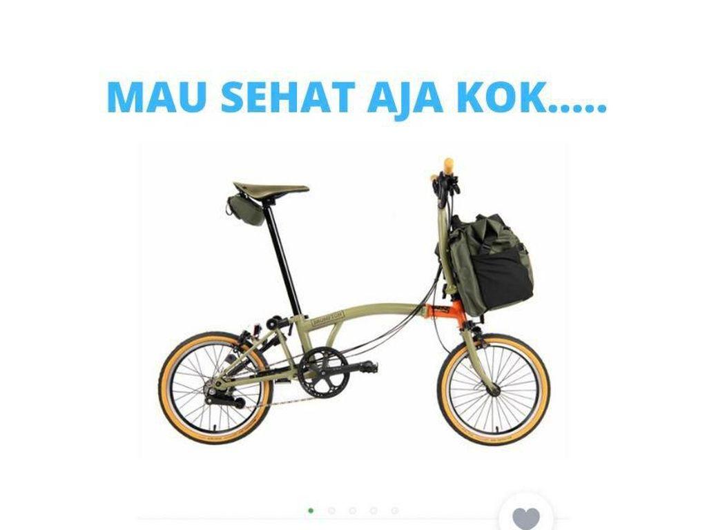 Meme Sepeda Brompton yang Buktikan Kadang Sehat Emang Mahal