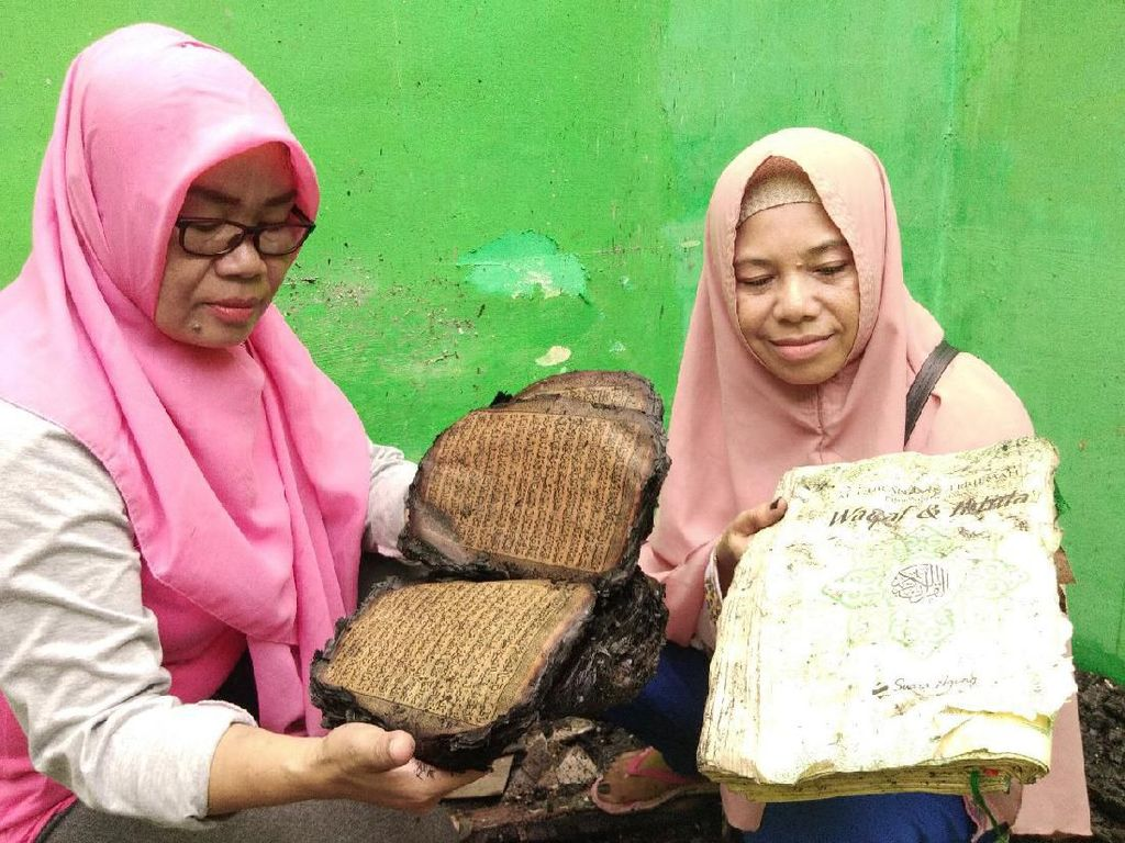Kebakaran di Makassar, Al-Quran dalam Rumah yang Terbakar Tetap Utuh