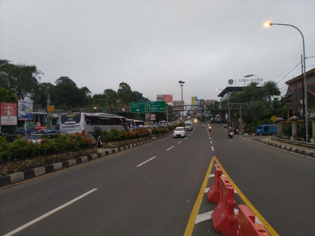 Sistem One Way, Lalin Puncak Menuju Jakarta Ramai Lancar