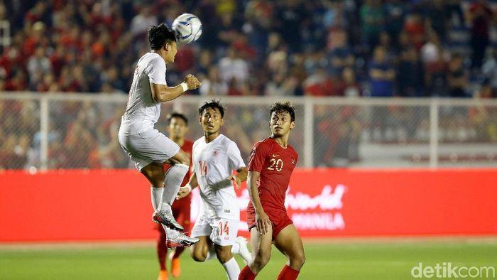 Myanmar kalah 2-4 dari Indonesia lewat babak perpanjangan waktu di semifinal SEA Games 2019 (Foto: Grandyos Zafna)