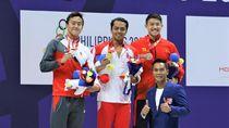 Siman Sudartawa Raih Emas Sekaligus Pertajam Rekor SEA Games