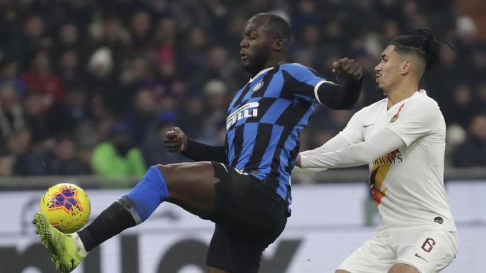 Inter Milan vs AS Roma berakhir 0-0 (AP Photo/Luca Bruno)