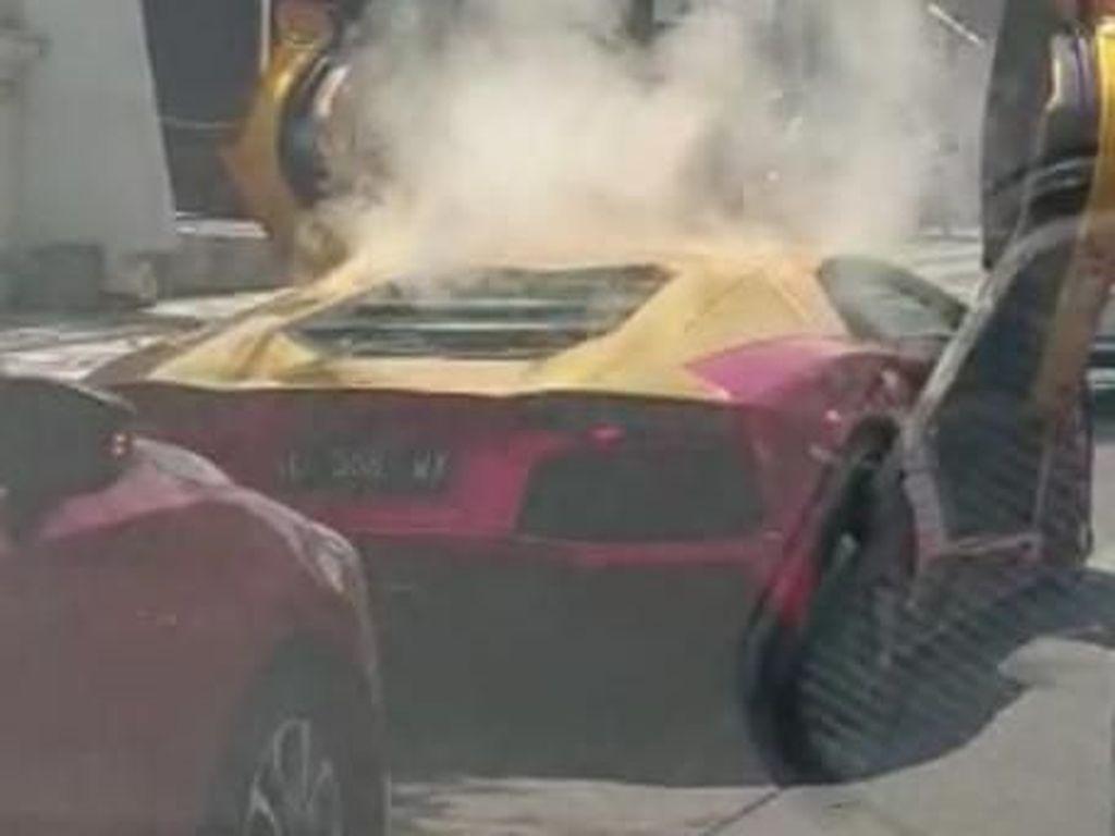 Viral Lamborghini Terbakar, Polisi Pertanyakan Kepemilikan STNK hingga BPKB