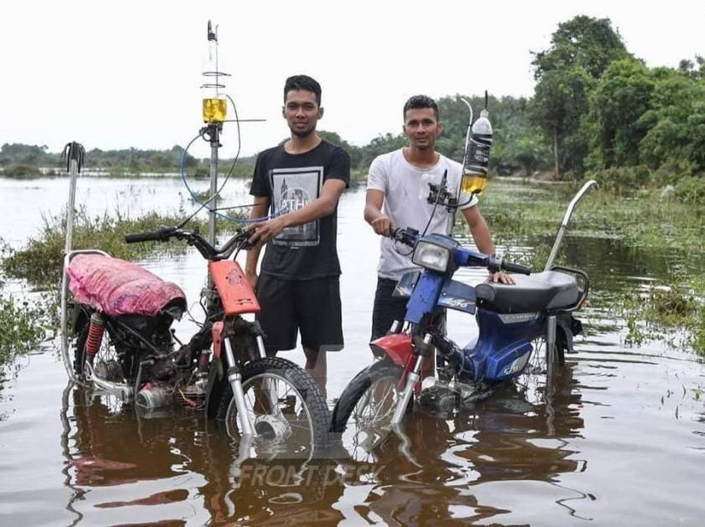 Pemuda Malaysia Ciptakan Motor Anti Banjir