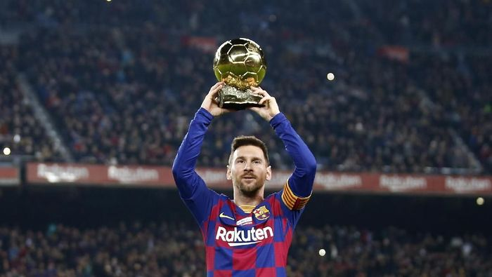 Usai raih Ballon dOr, Lionel Messi membuat hat-trick ke gawang Mallorca (Joan Monfort/AP Photo)