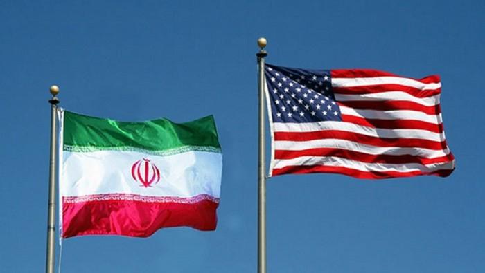 Bendera Iran dan AS