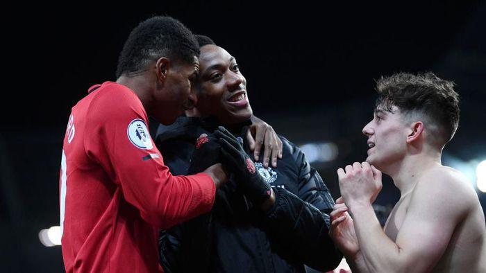 Manchester United berturut-turut menaklukkan Tottenham Hotspur dan Manchester City. (Foto: Laurence Griffiths/Getty Images)