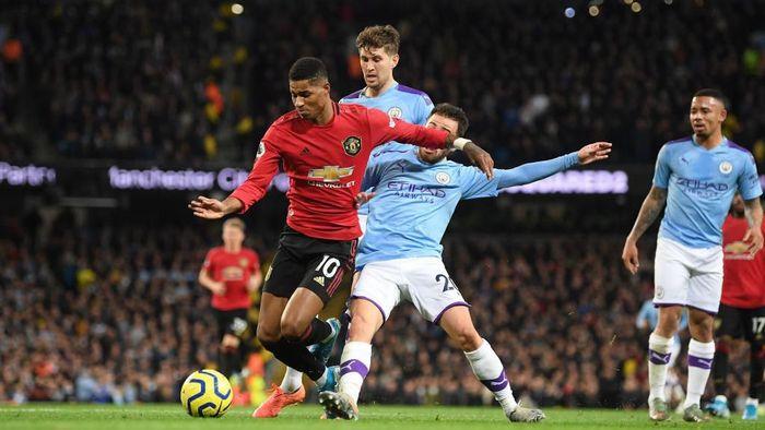 Manchester United menang 2-1 atas Manchester City di Etihad Stadium. (Foto: Michael Regan/Getty Images)