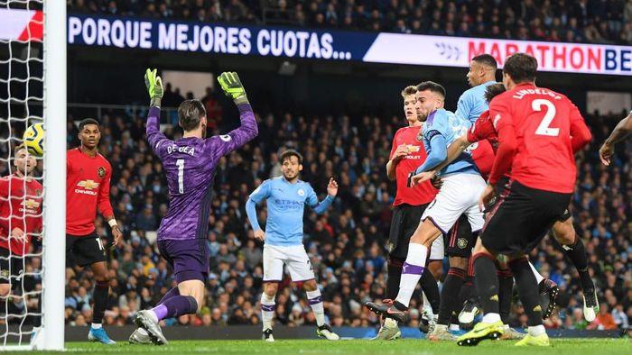 Manchester City ditumbangkan Manchester United di Etihad. (Foto: Michael Regan/Getty Images)