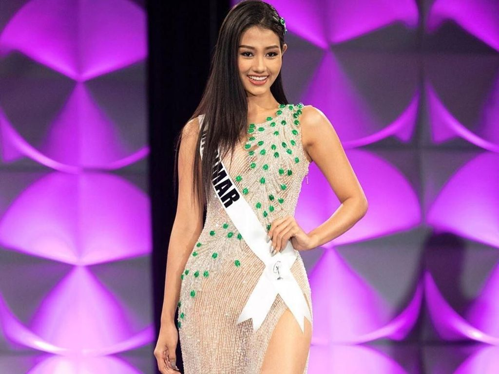 Foto: Miss Myanmar, Finalis Miss Universe Pertama yang Ngaku Lesbian