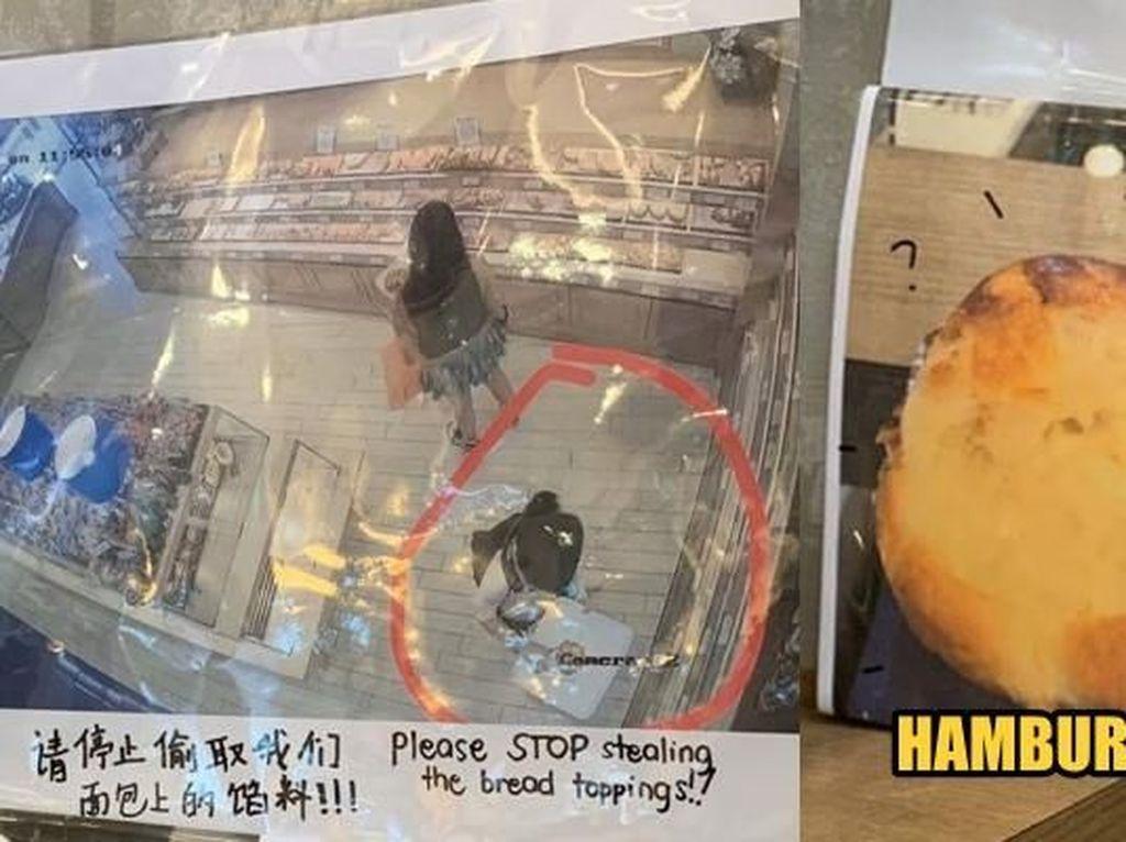 Ada-ada Saja! Wanita Ini Hobi Mencuri Topping Roti