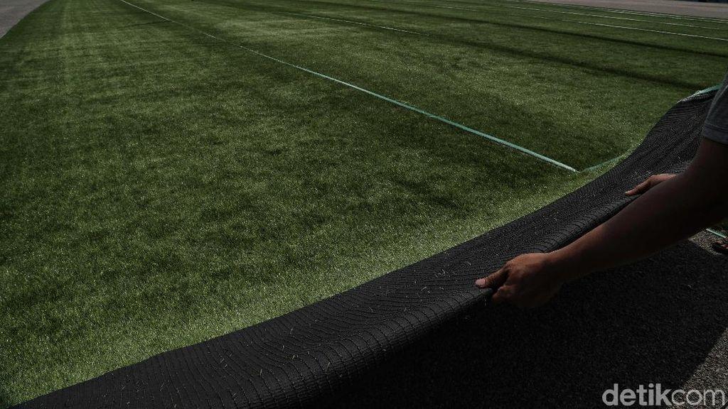 Melihat Pembangunan Lapangan Sepakbola Muara Angke